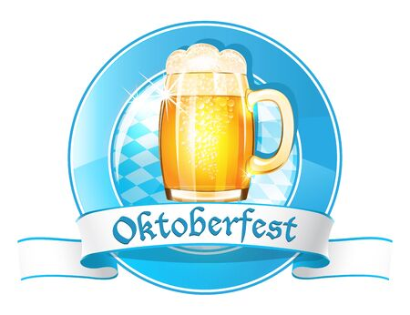 Oktoberfest round banner with ribbon Stock Vector - 21319711