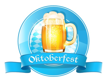Oktoberfest round banner with ribbon Stock Vector - 21319712