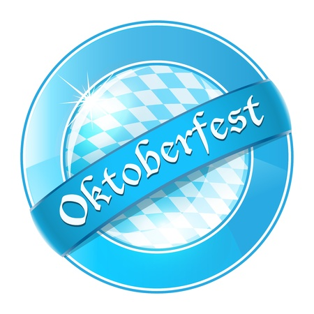 Oktoberfest round banner with ribbon Vector