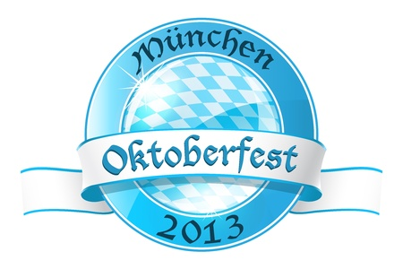 Oktoberfest round banner with ribbon Stock Vector - 21700653