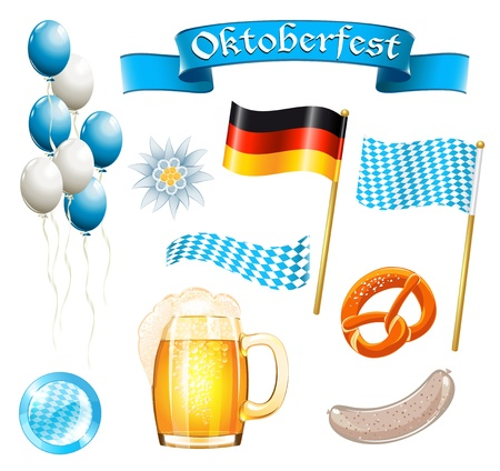 Set of Oktoberfest design elements Vector