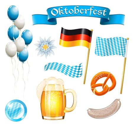 Set van Oktoberfest design elementen