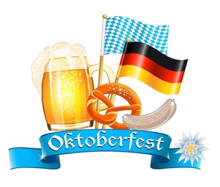 weisswurst: Oktoberfest celebration design