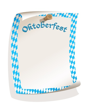 Paper board in bavarian colors  Vector