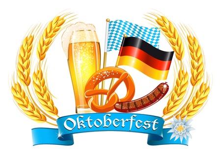 m�nchen: Oktoberfest viering ontwerp
