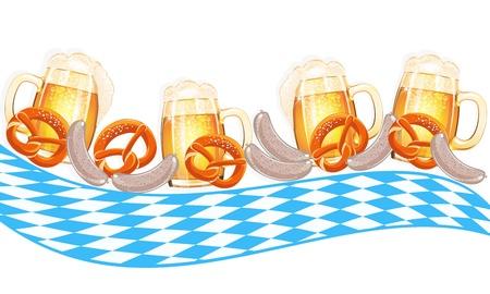 オクトーバーフェストのお祝いデザイン  イラスト・ベクター素材