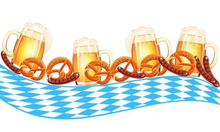 オクトーバーフェストのお祝いのデザイン  イラスト・ベクター素材