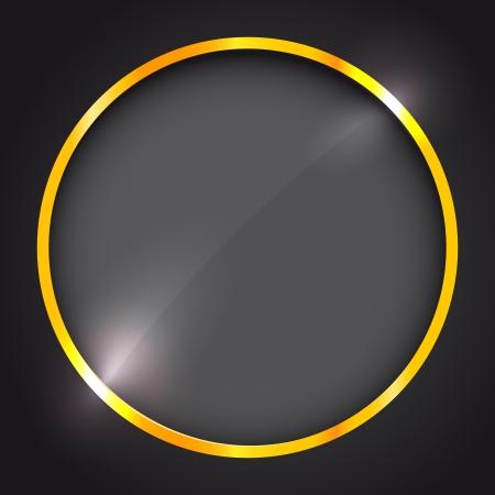 round window: Round frame with golden border