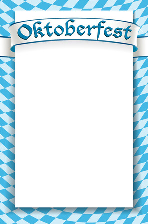 オクトーバーフェストのお祝いのデザインの背景  イラスト・ベクター素材