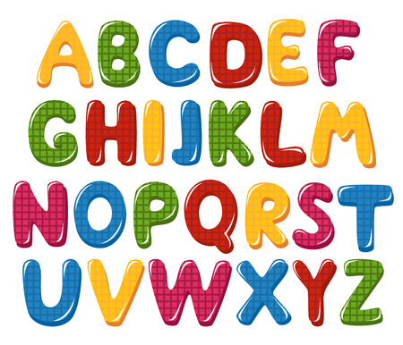 Checked alphabet letters Vector