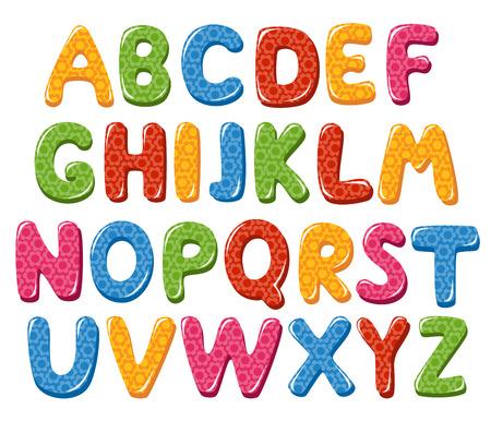 alphabet lettre: Lettres de l'alphabet Illustration