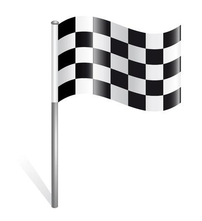 Rally flag icon Stock Vector - 23287198
