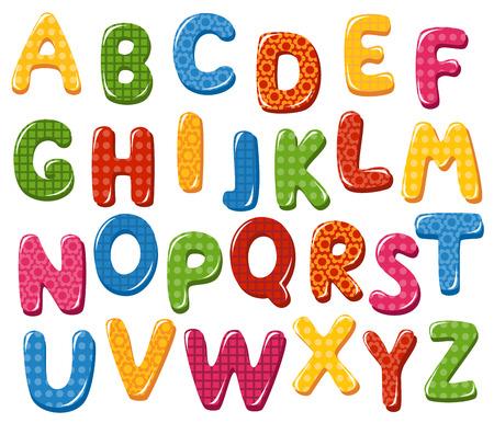 다채로운 알파벳 문자