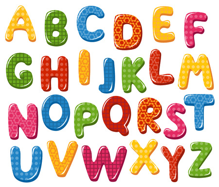 typeset: Colorful alphabet letters
