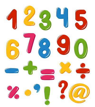 punctuation: Set of numbers and punctuation marks