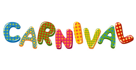 vintage carnival: Colorful Carnival Text
