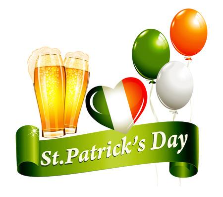 irish beer label: St.Patricks Day banner Illustration