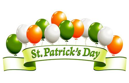 national border: St.Patricks Day banner Illustration