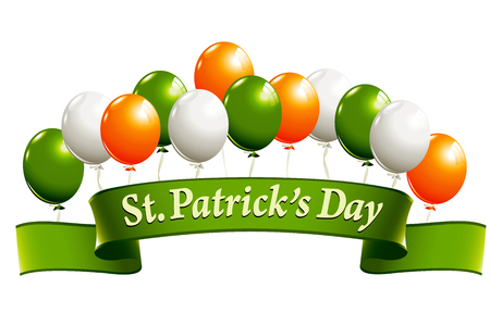 patrick banner: St.Patricks Day banner Illustration