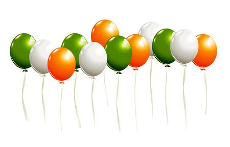 irish pride: Balloons in irish colors