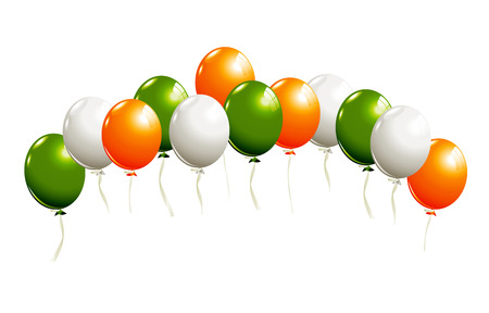 Balloons in irish colors Vector