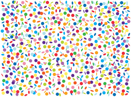 Colorful confetti background Vector