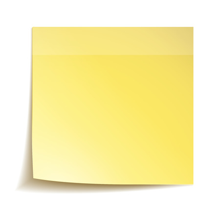reminder: Yellow stick note paper on white background Illustration
