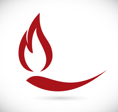 benzine: Fire icon Illustration