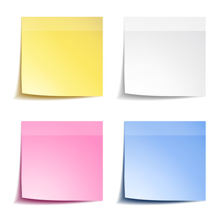 sticky note: Sticks note papers on white background