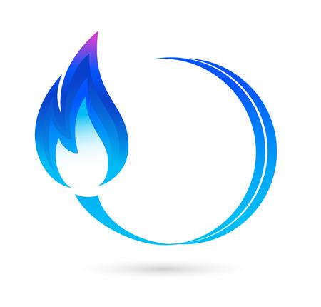 benzine: Blue fire icon