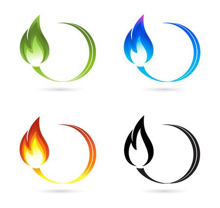 benzine: Set of fire icons