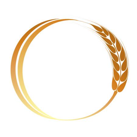 cultivo de trigo: Espigas de trigo icono Vectores