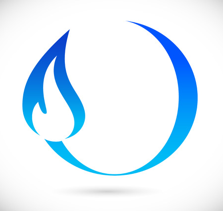 gas flame: Blue fire icon