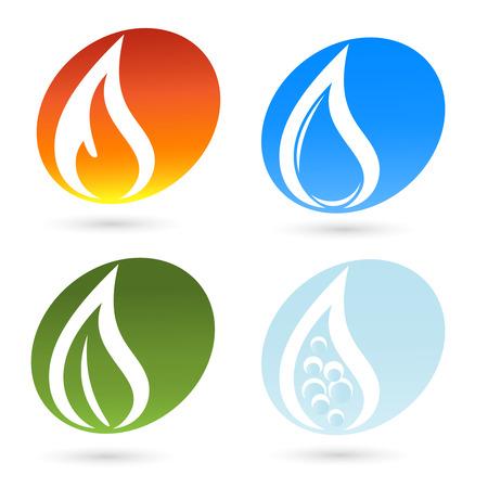 The four elements of life Illusztráció