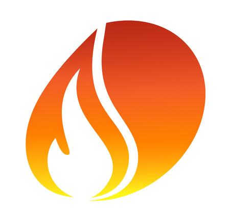 赤い火アイコン  イラスト・ベクター素材