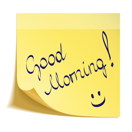 Good Morning note with smiley