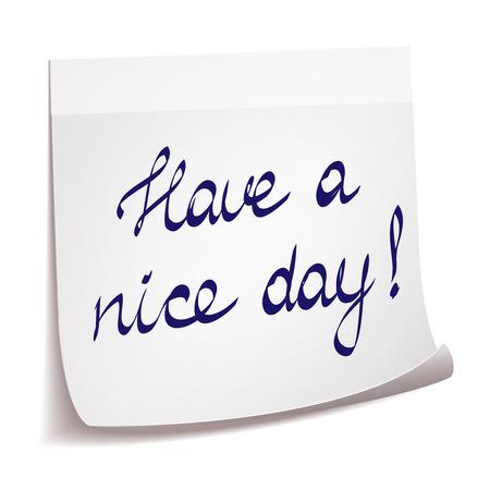 Tener un día agradable nota
