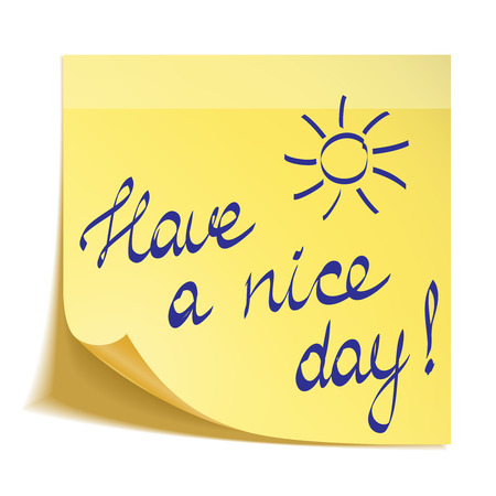 Have a nice day note Vector