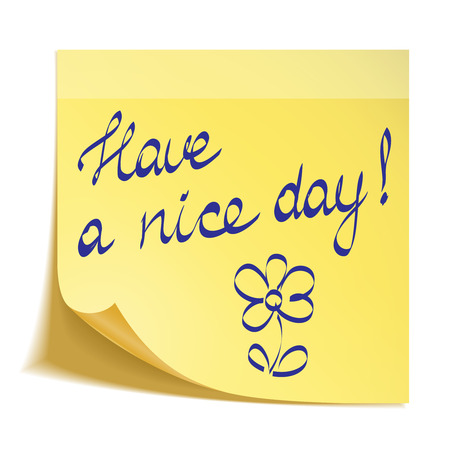 nice day: Have a nice day note Illustration