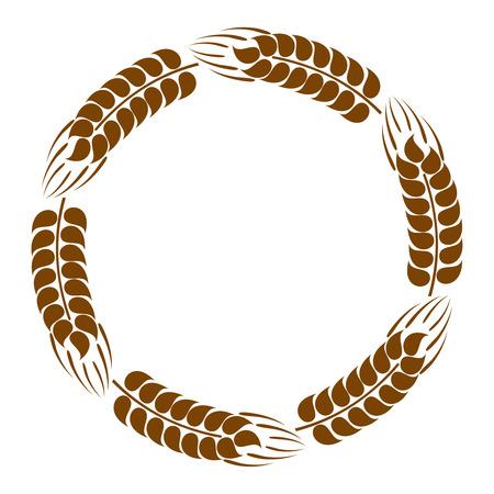 Wreath of wheat ears Vector