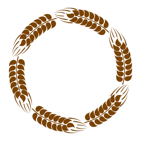 wheat harvest: Wreath of wheat ears