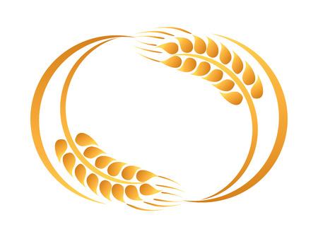 espiga de trigo: Espigas de trigo icono Vectores