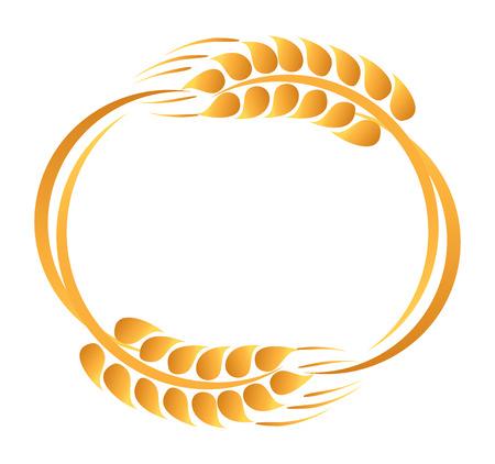 Wheat ears icon Illustration
