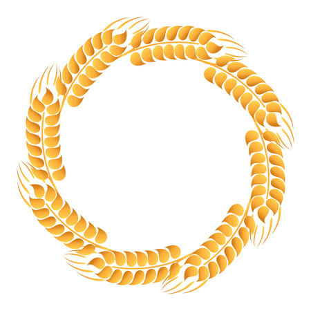 Wreath of wheat ears Vector