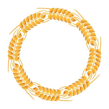 wreath of wheat: Wreath of wheat ears