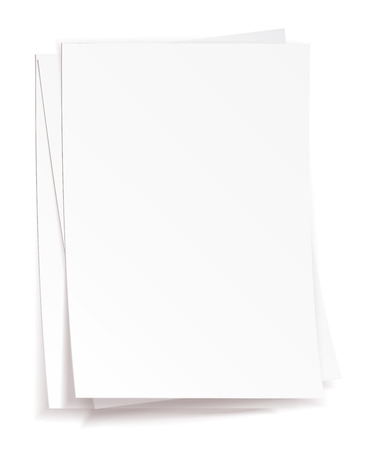 Stack of white papers on white