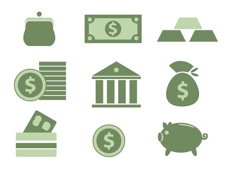 stock clip art icons: Finance and money icons set