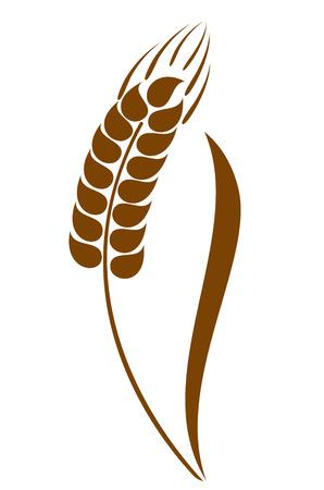 caryopsis: Abstract wheat ears icon