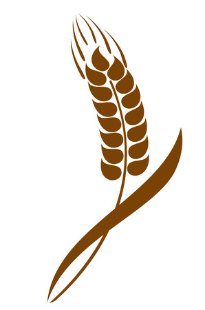 Abstract wheat ears icon