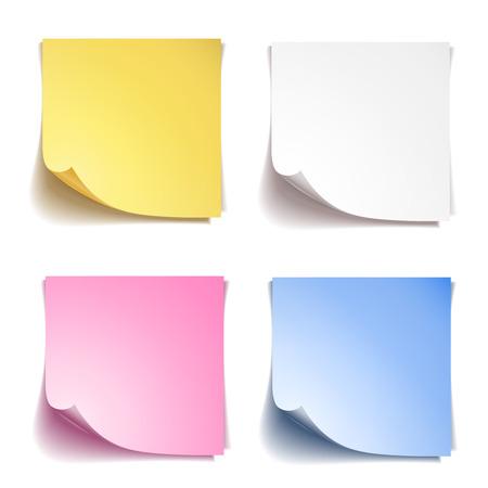 Sticks note paper on white background Vettoriali
